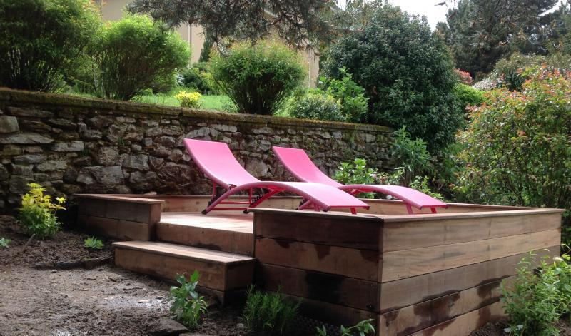 Gite a chagnon loire descriptif - Terrasse vue jardin marseille saint etienne ...